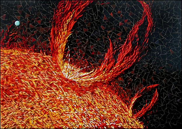 Mosaic Solar Flare 3D by artist Yulia Hanansen
