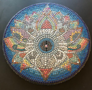 Mosaic Table Top Steph Potter Blue Mandala