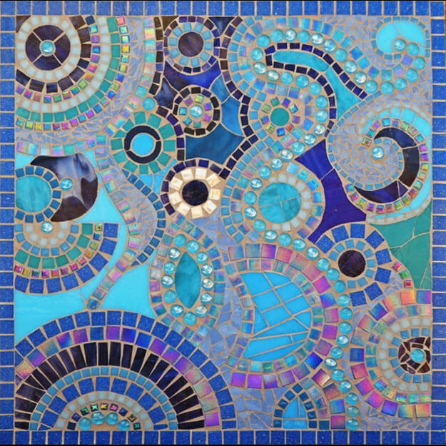 Dream in Blue Mosaic by artist Monika Walter