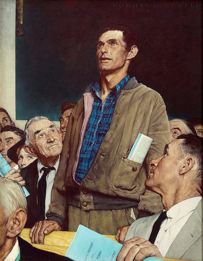 The Four Freedoms painting by Norman Rockwell