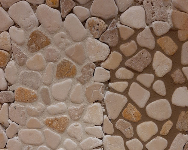 Stone Mosaic Backsplash color study