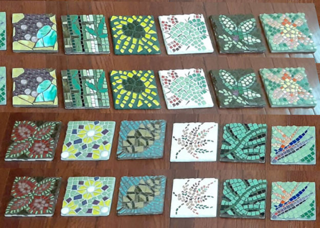 Porch Mosaics series by art therapist Ellis Eisener, photo collage