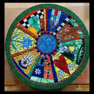 Mosaic Lazy Susan By Kim Wilkowich.