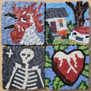 Cleaved Glass-Tile Mosaics