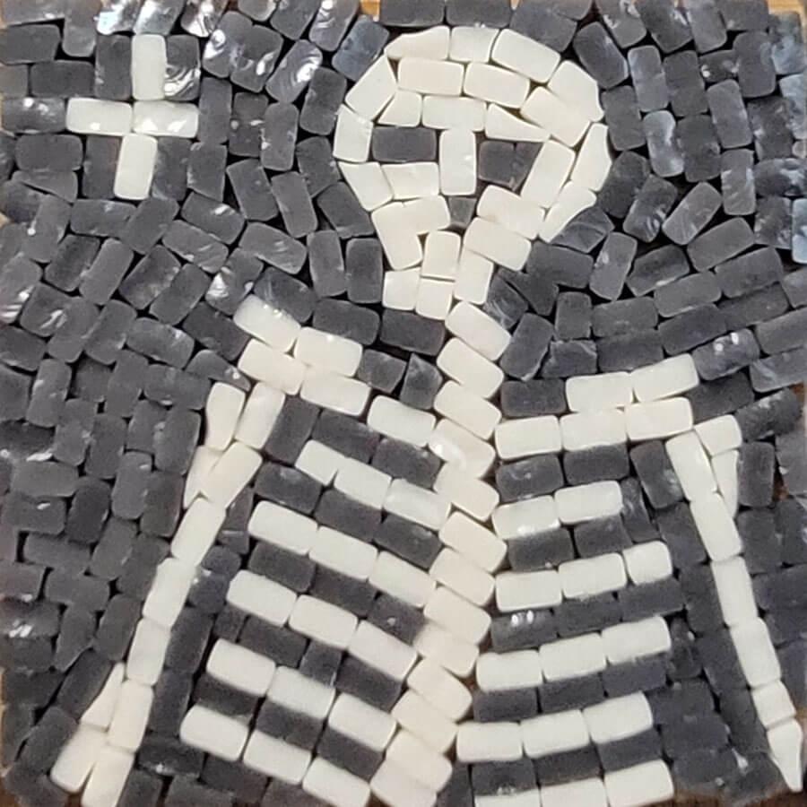 Skeleton Cleaved Glass-Tile Mosaic