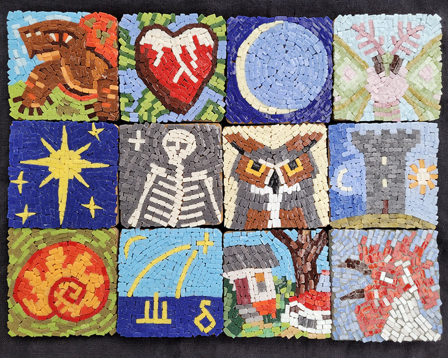 Cleaved-Glass Mosaics, warm light photo