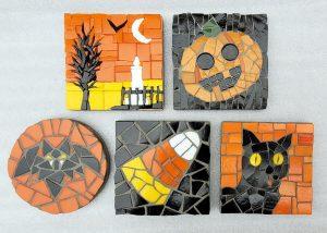 Halloween Mosaic Coasters